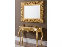 Contemporary Ornate Gold Console Table RRP £460 50% OFF