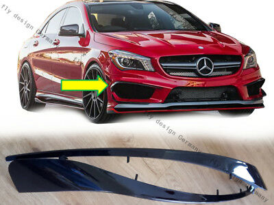 2xFrontspoiler Mercedes CLA W117 AMG Splitter Seitenlippe Stoßstange Flaps Apron