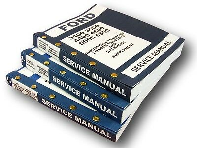 Ford 3400 3500 4400 4500 Industrial Tractor Service Repair Shop Manuals Complete