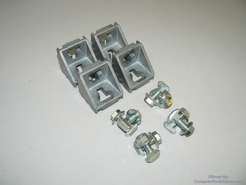 Lot of 4 Bosch Rexroth T-Slot Corner Framing Brackets - 523 558 or 523558 - 3 84