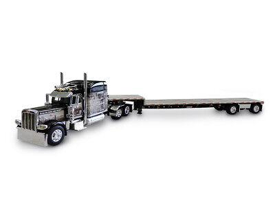 1 64 Dcp Open Range Trans Peterbilt 389 70  Mid Roof Sleeper Truck With Transcra