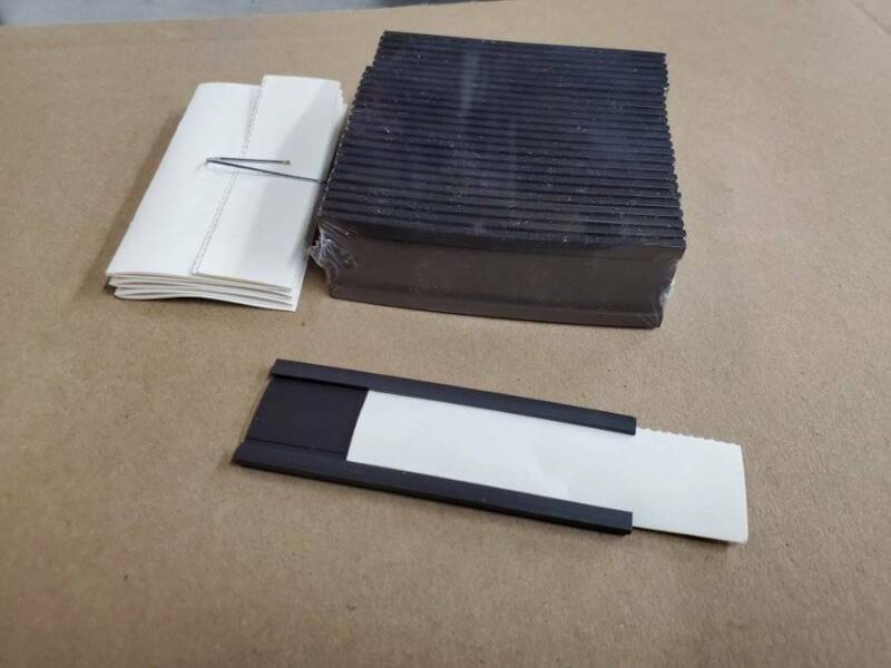 """25 Magnetic C-Channel Warehouse Card Holders - 1 x 3"""" ULINE S-6421"""