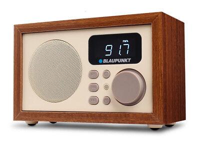 Radio Wecker Retro Anlage Digital mit Holzgehäuse LCD FM MP3 microSD USB AUX