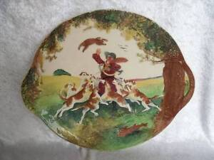 **RARE** Royal Doulton 'Hunting Scene' Relief Cake Plate (D4988)