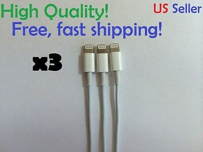 3x Lot 8 Pin USB Charger Evidence Sync Cable for Apple iPhone 6 5 5C 5S 6 Plus iPod