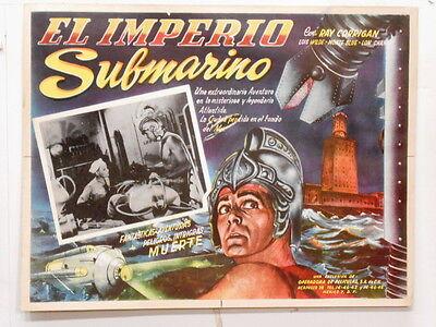 Undersea Kingdom EL IMPERIO SUBMARINO Lon Chaney  Lobby Card Poster 1936