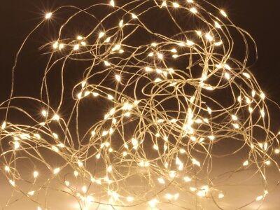 LED-Lichterkette, halbtransparent, 100 LEDs, warmweiß, 230V~, Innen/Außen