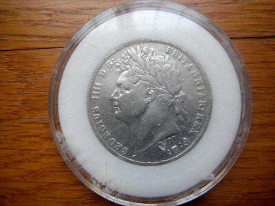 1821 British George IIII Half Crown Awesome Silver Half Crown British Silver C
