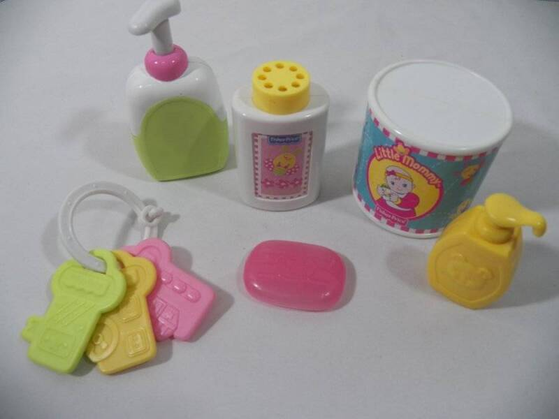 ~Fisher Price~ Little Mommy Doll Bath Time Soap, Lotion, Pouring Baby Powder