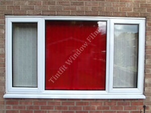 NON-REFLECTIVE-RED-34-ONE-WAY-PRO-WINDOW-TINTING-TINT-FILM-CAR-AND-BUILDING