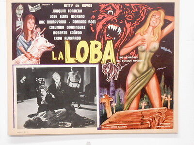 "La LOBA Wolf In The Black Forest Lobby Card Poster Movie Horror ""She Wolf ""1965"