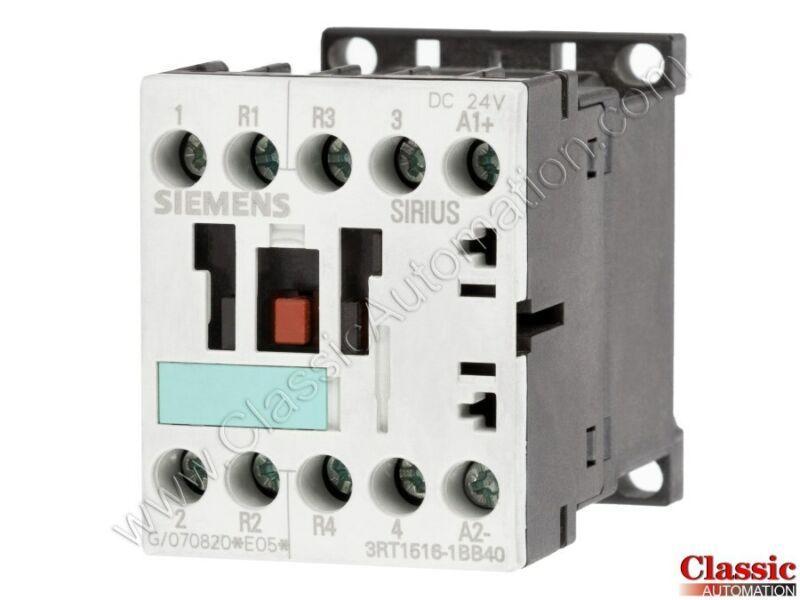 Siemens | 3RT1516-1BB40 | CONTACTOR S00 18A 24VDC 2NO+2NC SCRW (Refurbished)