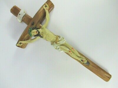 Jesus cross 28 cm, to Hang up, Jesus Wall cross Poly Inri , New