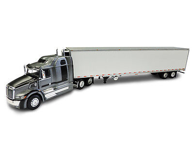 1 64 Dcp Gray Western Star 5700 Xe 68  Mid Roof With 53 Refrigerated Trailer