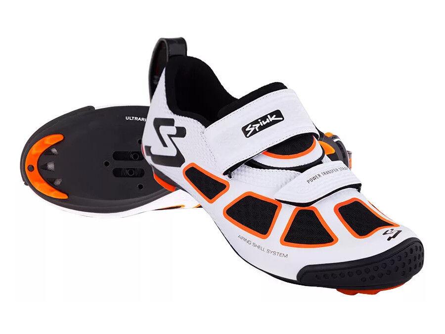 Turnschuhe Triathlon Spiuk Trivium Größe 43 - Weiß/Orange