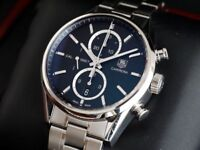 Tag Heuer 1887 Carrera Watch Chronograph steel strap CAR2110-0 V2 Serviced with Warranty £1999