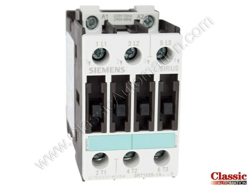 Siemens | 3RT1025-1AP60 | CONTACTOR NONREV S0 17A 240VAC 3P SCRW (new)