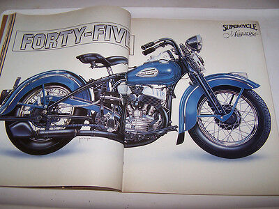1985 Supercycle Magazine With Jack Knight Harley Davidson Centerfold