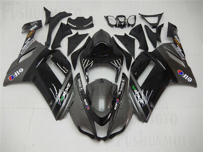 Gray Black Injection Body Kit Fairing Fit for 2007 2008 Ninja ZX-6R 636 Mold ABS