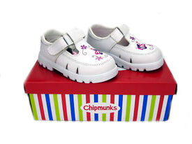 Chipmunk Girls Leather White Summer Shoes Brand New in Box
