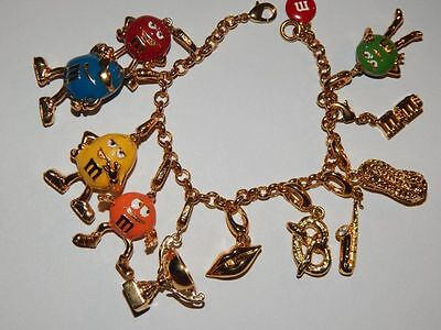 M. & M.'s Monet Gold Tone Charm Bracelet- complete - M&m Dress Up