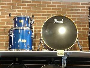 Pearl Session Studio Classic Blue Shell Kit Drum Set 12-16-24x16, Bleu - used-usagé