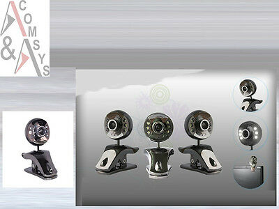 30MPixel Web Cam Camera Webcam + Mikrofon + 6 LED Laptop PC MSN Skype Clip Y97