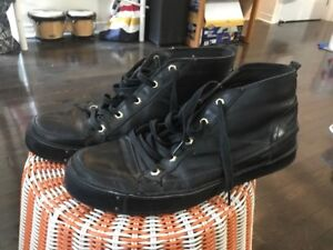 Timberland black leather high-tops men's size 11