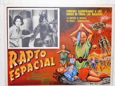 The Terrornauts Space Rapture Sci Fi  A Virgin Sacrificed Lobby Card Poster 1967