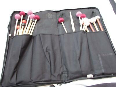 MIXED large lot of percussion mallets marimba drum sticks and bag