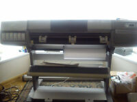 HP Designjet 5000PS UV Printer - Excellent Condition, Large Format Banner, Canvas Printer