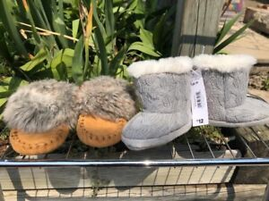 2 paid of 3-6 month winter booties