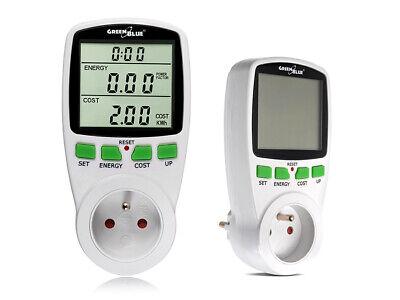 Medidor de Potencia de Consumo Eléctrico Monitor Energía Voltaje 256 Programas
