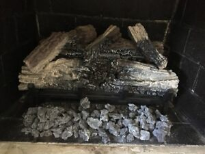 electric log set - fireplace