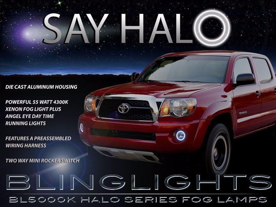 Angel Eye Fog Lamps Halo Driving Lights Kit for 2005-2011 Toyota Tacoma
