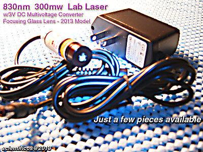 Powerful Focusing Module 830nm300mw Lab Laser W3v Multivoltage Ac