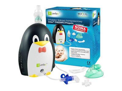 Inhalator Pinguin Asthma Vernebler für Kinder Intec Maske - Pinguin Maske