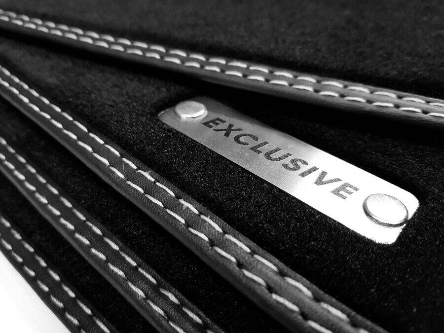 Fußmatten Audi Q5 8R 2008-2017 800g Polyamid Velours Leder Rand