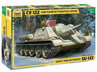 Zvezda 3691 Russiche Panzer-Haubitze CY-122 Plastik Modellbausatz 1:35 NEU