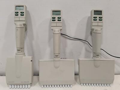 Rainin Edp-3 Plus Multi-channel Pipettes 100-1200ul 20-200ul Lot Of 3