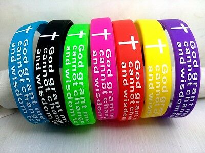 1 X inspirational  Serenity Prayer cross bracelet lord christian jesus wristband - Inspirational Prayer