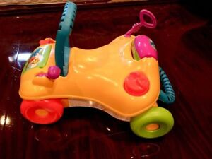 Toddler walker converts to ride-on toy