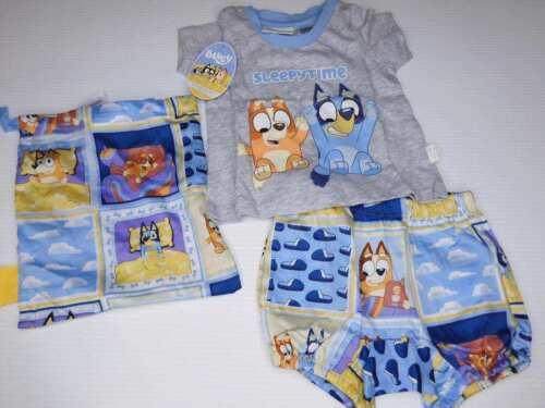 NEW WITH TAGS BABY PETER ALEXANDER BLUEY SET WITH STORAGE BAG 0 - 3 MONTHS