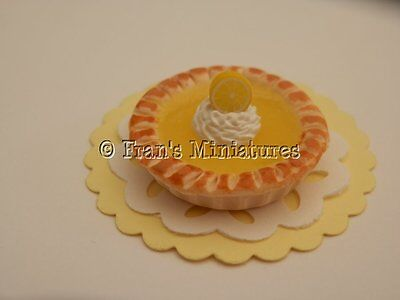 Dolls house food: Zesty lemon curd tart  -By Fran (Lemon Curd Tart)