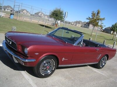 1966 Ford Mustang Convertible 1966 Ford Convertible Mustang 289    C-CODE   Power Top