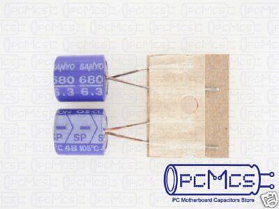 8 Pcs Sanyo Sp 6.3v 680uf Os-con Aluminum Solid Low Esr Pc Motherboard Capacitor