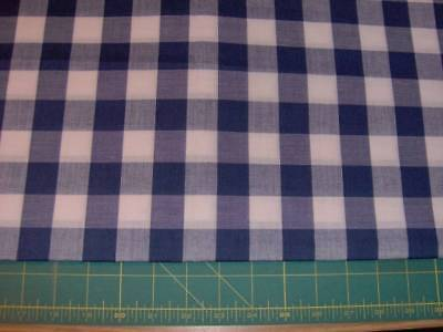 """blue gingham 64"""" x 44"""" and a bit - polyester sewing/quilitng fabric, used for sale  Napanee"""