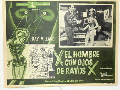 The Man With the X-Ray Eyes Roger Corman Ray Milland  Lobby Card Poster 1963