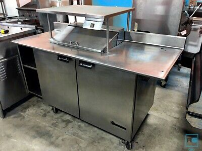 Victory Ur-48 Sst Sandwich Prep Table With Extended Prep Area And Shelf
