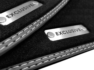 Exclusive Logo Fußmatten für Mercedes SL R129 CABRIO beste Qualität Velours